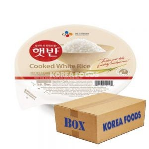 CJ Microwavable Cooked Rice (Hat-Ban) (210g x 36) Box