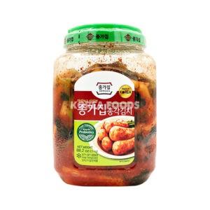 Chongga Chong Kak Kimchi (Ponytail Radish) Jar 2.5kg