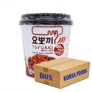 Yopokki Hot & Spicy Topokki (120g x 30) Box