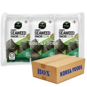 Crispy Seaweed Snacks (Wasabi) (5g x 3 x 12) Box