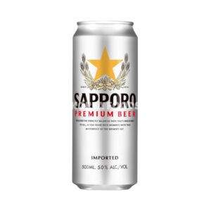 Sapporo Lager (Can) ABV 5.0% 500ml