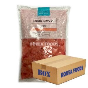 Blue Ville Sliced Ginger (1.5kg x 10) Box